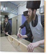 Preparing Matzah Israel Wood Print