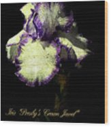 Presby's Crown Jewel Iris  Wood Print