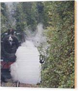 Preserved Steam Locomotive  Wood Print