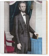 President Abraham Lincoln In Color Wood Print
