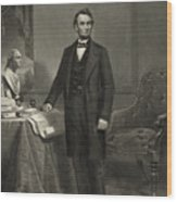 President Abraham Lincoln Wood Print by International  Images