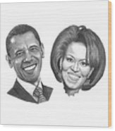 President And First Lady Obama Wood Print