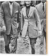 President Ayub Khan Left, Of Pakistan Wood Print by Everett