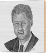 President Bill Clinton Wood Print