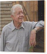 President Carter At His Boyhood Farm Wood Print
