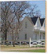 President Dewight Eisenhower Birthplace Wood Print