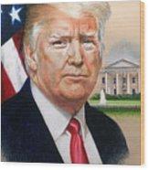 President Donald Trump Art Wood Print