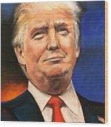 President Donald Trump Portrait Wood Print