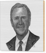 President George W Bush Wood Print
