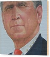 President George W. Bush Wood Print