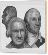 President George Washington Wood Print