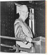 President Harry Truman Wood Print