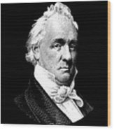 President James Buchanan Graphic Wood Print