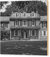 President James Buchanan's Wheatland In Black And White Wood Print