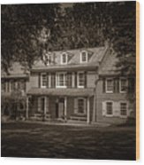 President James Buchanan's Wheatland In Sepia Wood Print