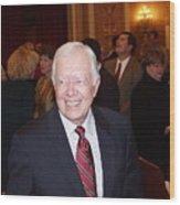 President Jimmy Carter - Nobel Peace Prize Celebration Wood Print