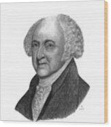 President John Adams Wood Print