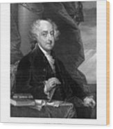 President John Adams - Three Wood Print