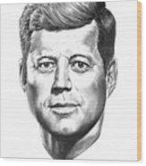 President John F. Kennedy Wood Print