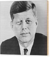 President John F. Kennedy Wood Print by War Is Hell Store
