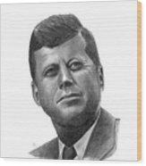President John Kennedy Wood Print