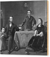 President Lincoln And His Family  Wood Print by War Is Hell Store