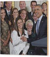 President Obama Honors Us Womens Soccer Team At White House #1 Wood Print