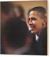 President Obama Wood Print