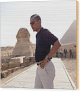 President Obama Tours The Egypts Great Wood Print by Everett
