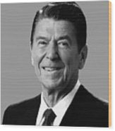 President Reagan Wood Print by War Is Hell Store