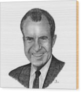 President Richard Nixon Wood Print