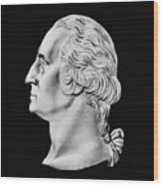 President Washington Bust  Wood Print