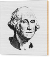 President Washington Wood Print