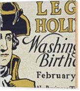 Presidents Day Vintage Poster Wood Print