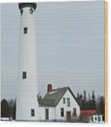 Presque Isle Lighthouse Wood Print