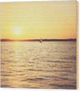 Presque Isle Sunset Wood Print
