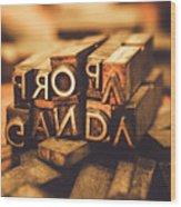 Press Of Propaganda Wood Print