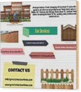 Preston Hollow Fence Wood Print