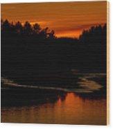 Presumpscot Sunset No.101 Wood Print
