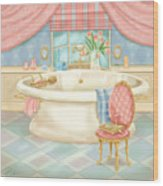 Pretty Bathrooms II Wood Print