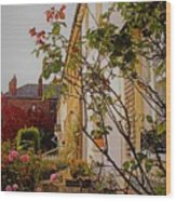Pretty English Cottage  Wood Print
