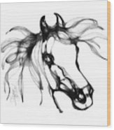 Pretty Filly's Ears Wood Print by Stacey Mayer
