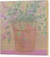 Pretty Flowers In Pink Wood Print