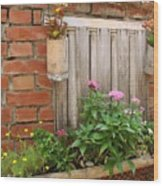Pretty Garden Wall Wood Print