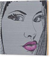 Pretty In Pink Lips Wood Print