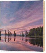 Pretty Is Pink Wood Print
