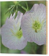 Pretty Little Flowers Wood Print