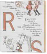 Pretty Name Abc R And S Wood Print