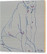Pretty Nude Woman Wood Print