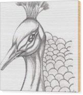 Pretty Peacock Wood Print